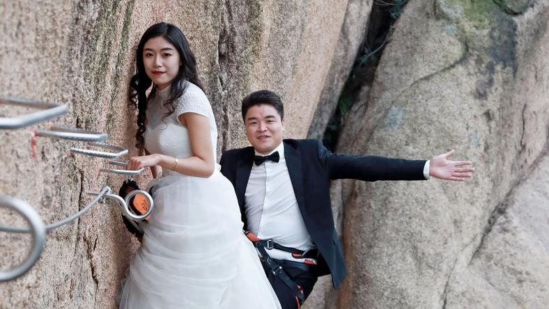 Ekstremalna sesja ślubna