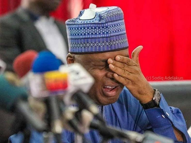Senate president Bukola Saraki fell out with the APC (NASS media)