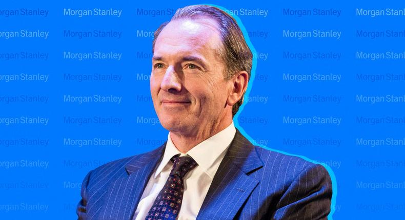 Morgan Stanley CEO James Gorman. Andrew Burton/Getty Images; Samantha Lee/Insider