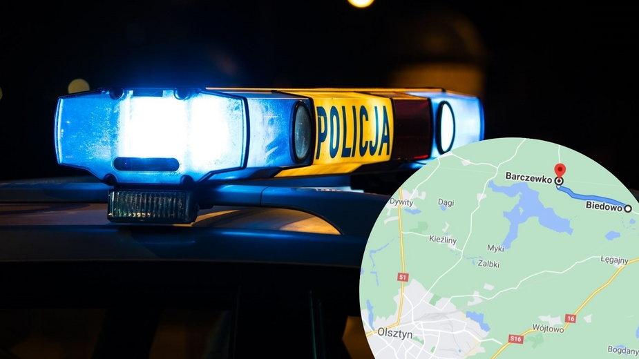 Wypadek koło Barczewka na Warmii. Zginęło dwoje nastolatków
