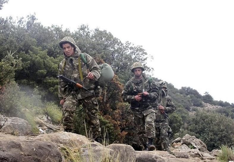 Algeria's soldiers near the village of Ouled Gacem in eastern Algeria, about 500km (311 miles) from the capital Algiers February 12, 2014. REUTERS/Louafi Larbi