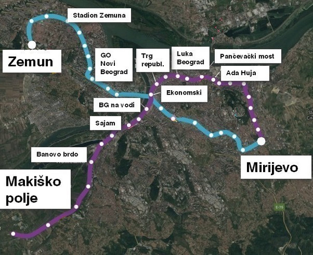 Trase koje su danas predstavljene