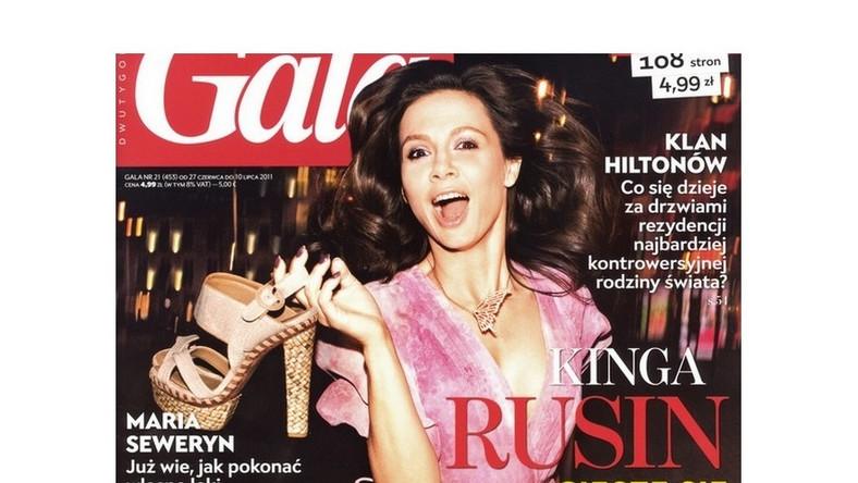 """Kinga Rusin na okładce dwutygodnika """"Gala"""" - czerwiec 2011 r."""