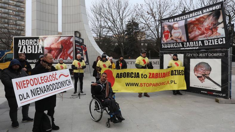 Protesty przeciwników aborcji