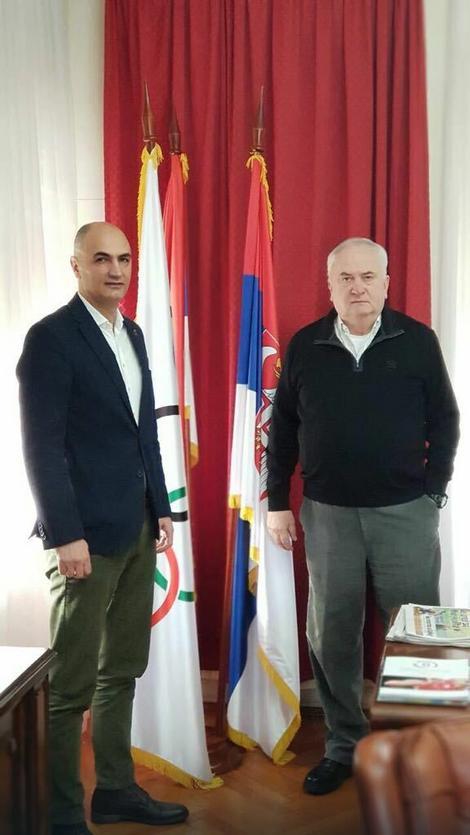 Petar Naumoski u gostima kod predsednika Olimpijskog komiteta Srbije, Božidara Maljkovića