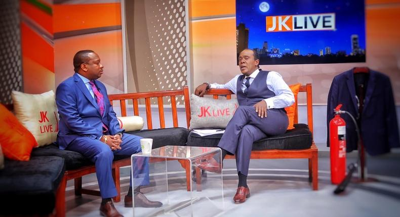 Governor Mike Sonko with Jeff Koinange during JKL interview