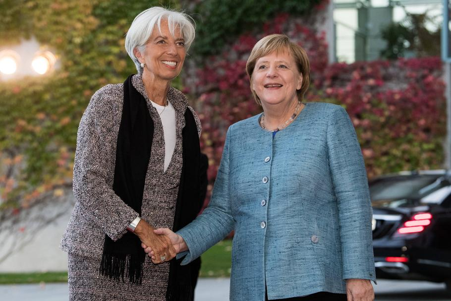 Angela Merkel og Christine Lagarde