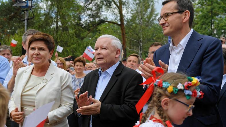 Beata Szydło Jarosław Kaczyński Mateusz Morawiecki