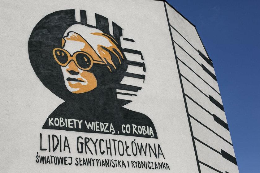 Rybnik. Profesor Lidia Grychtołówna ma swój mural