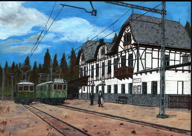 Stacja Starý Smokovec w 1915 r.