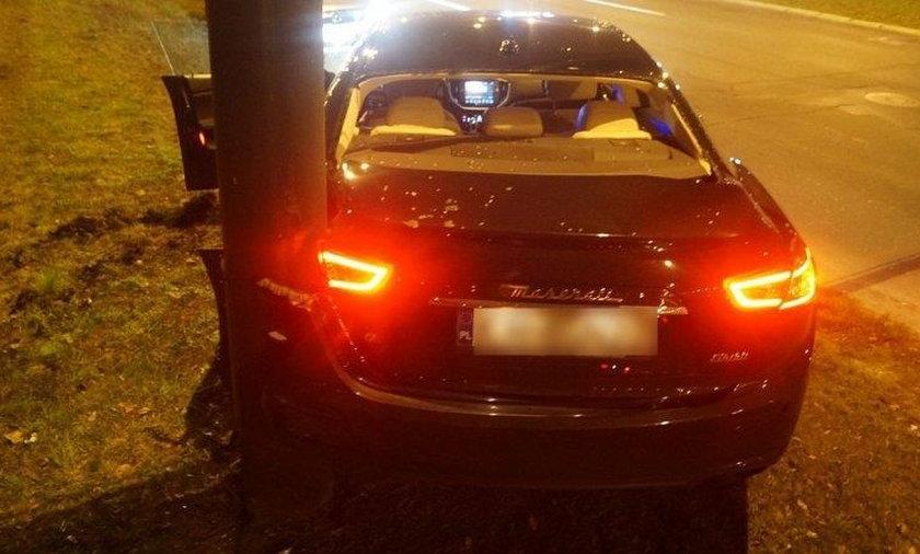 Polski piłkarz rozbił luksusowe auto