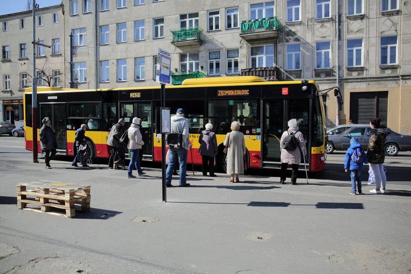 Przystanek MPK w Łodzi