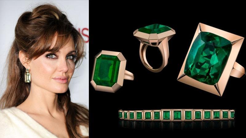 Angelina Jolie i  jej biżuteria