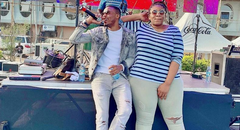 Alikiba with Esi Mgimba. Singer Alikiba fires Manager Esi Mgimba after 8 months
