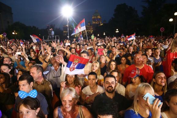 Doček vaterpolista Srbije posle četvrte uzastopne evropske titule