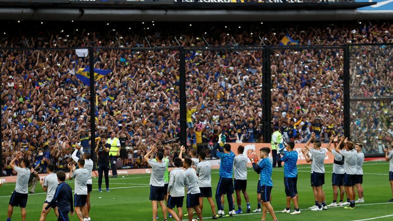 Piłkarze i kibice Boca Juniors