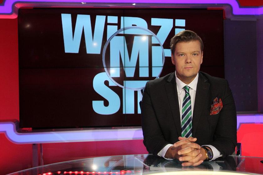 Michał Figurski w swoim programie w Polsat News2