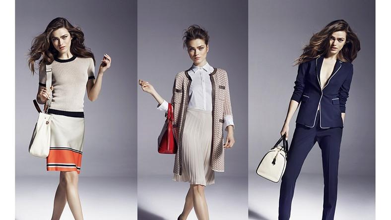 Szukając źródeł inspiracji, można zauważyć wpływ lat 50. i 60. z charakterystyczną linią A sukienek noszonych do butów na płaskim obcasie
