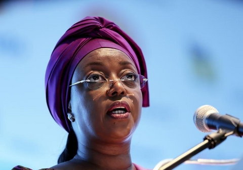 Nigeria's  former minister of petroleum Diezani Alison-Madueke addresses delegates at the opening of the Nigeira Oil & Gas 2014 conference in Abuja, March 18, 2014, REUTERS/Afolabi Sotunde