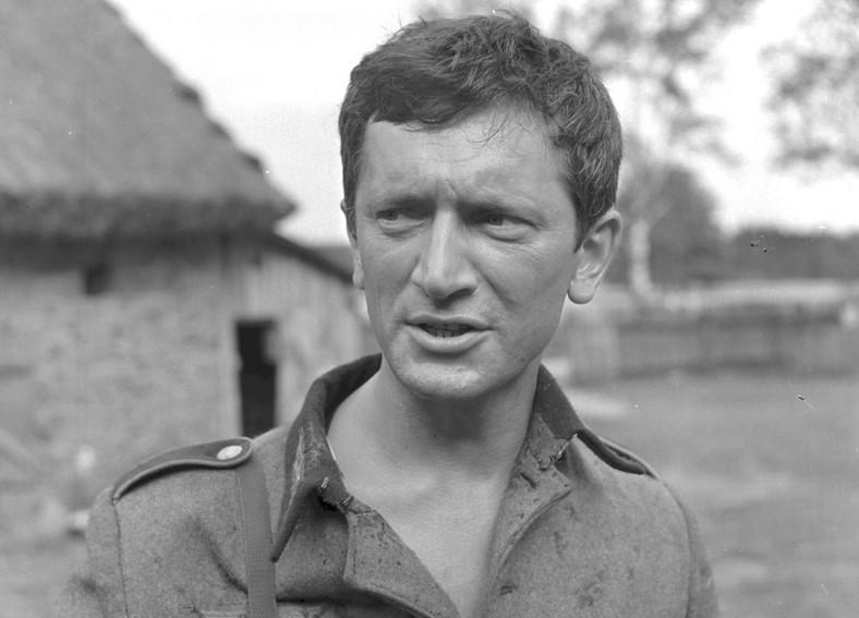 """Marian Kociniak na planie """"Jak rozpętałem drugą wojnę światową"""" w 1968 roku"""