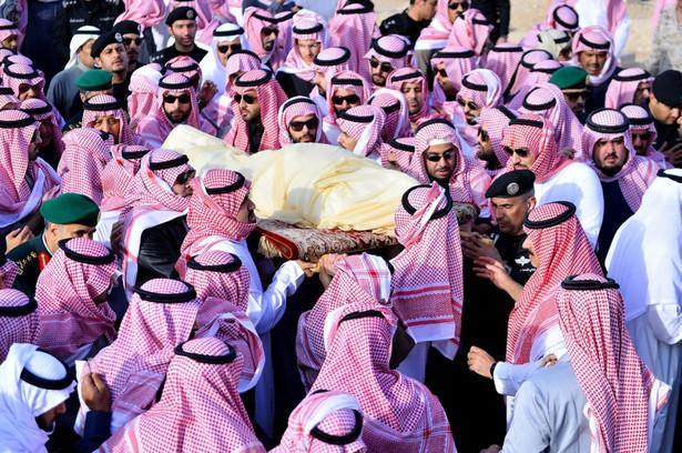 Pogrzeb króla Arabii Saudyjskiej, źródło: EPA/SAUDI PRESS AGENCY, Dostawca: PAP/EPA.