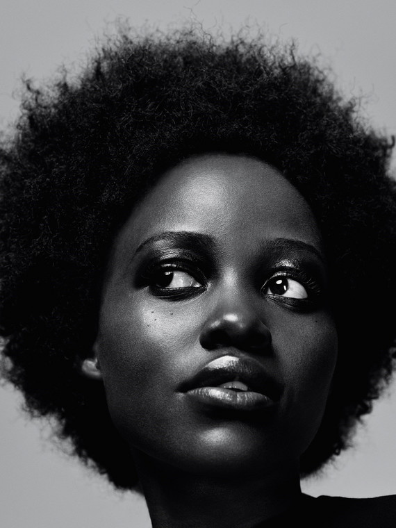 Lupita and her afro in all its glory for Another magazine