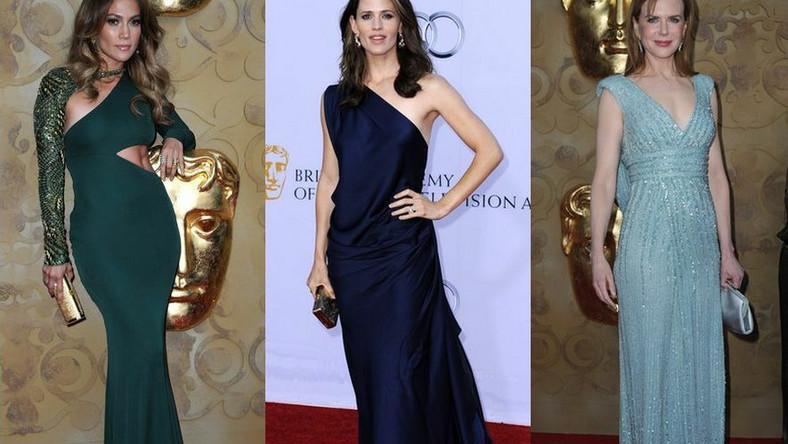 Panteon posągowych gwiazd: kreacje na gali BAFTA Brits to Watch 2011