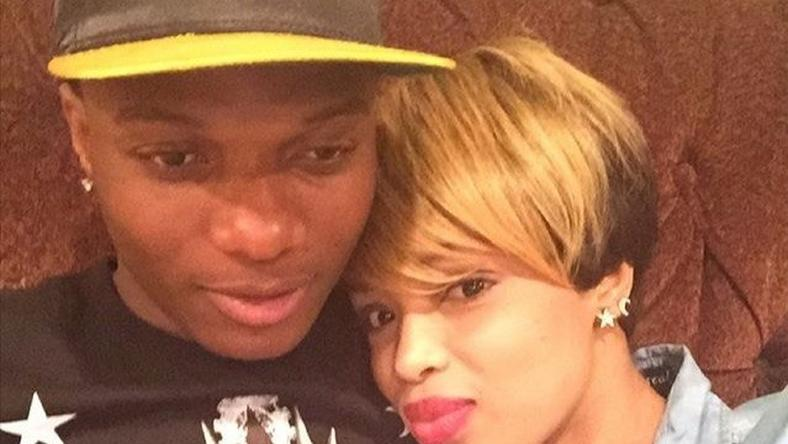 Wizkid with his alleged baby mama Binta Diamond Diallo (Blue Diamond)