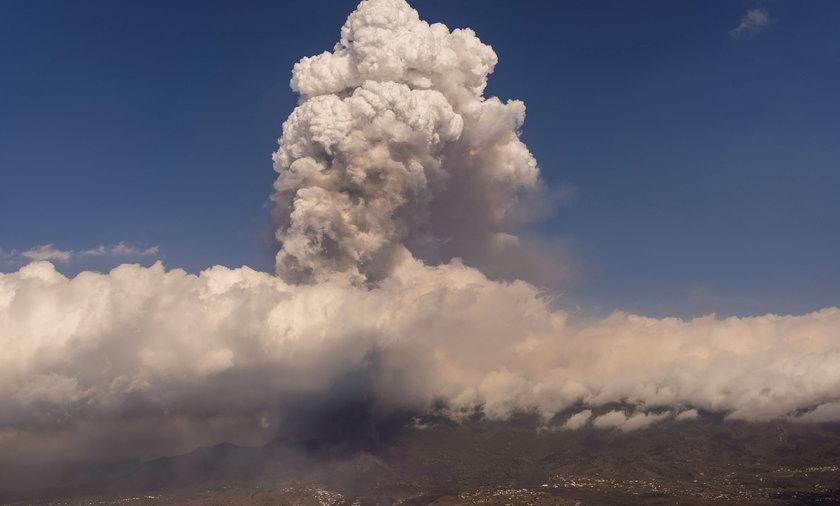 Wybuch wulkanu na La Palmie.