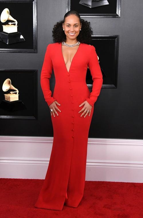 The host of the evening, Alicia Keys