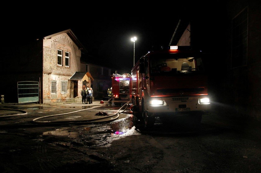 Ulica Torowa była pełna wozów strażackich