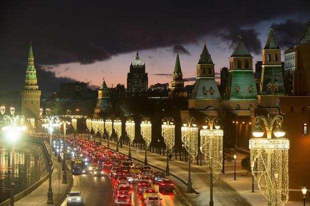 Widok na Kreml, Moskwa. 6.02.2020