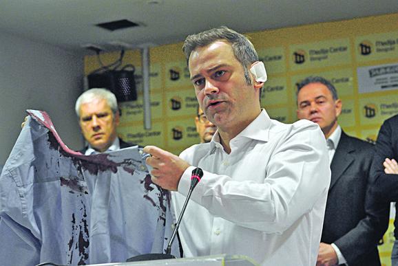 Borko Stefanović na konferenciji dan nakon napada