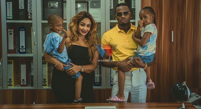 Diamond Platnumz treats Zari & his kids to tour of his Mega Mansion (Courtesy/Wasafi)