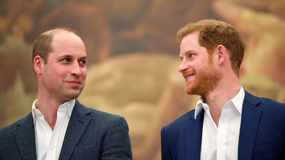 Książę Harry rozmawiał z księciem Williamem