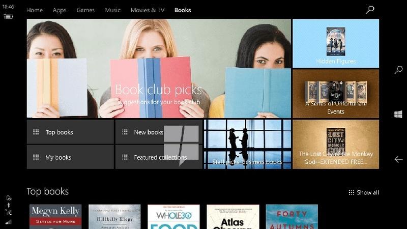 Windows 10 z własną księgarnią