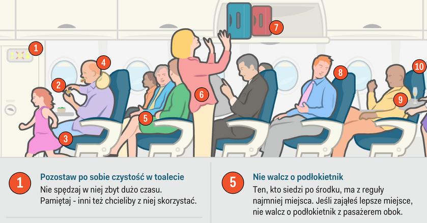 Jak zachowywać się na pokładzie samolotu