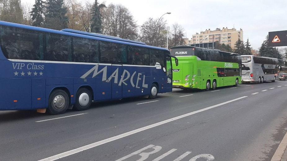 Protest przewoźników w Rzeszowie.