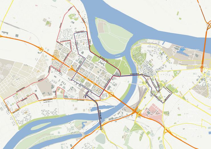 mapa beograda decanska ulica MARATON ZATVORIO GRAD Evo koje su ulice neprohodne, kuda vozi GSP  mapa beograda decanska ulica