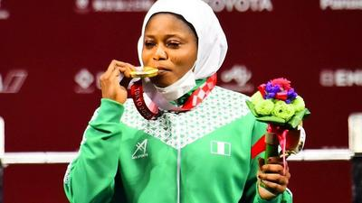 Latifat Tijani wins gold in powerlifting for Nigeria's first medal at 2020 Paralympic Games