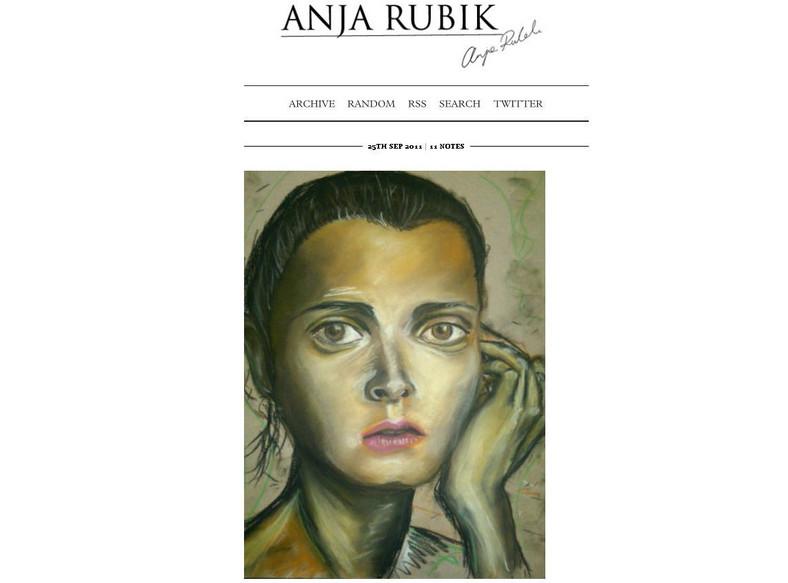 Jedno z dzieł autorstwa Anji Rubik, zamieszczone na stronie anjarubik.com