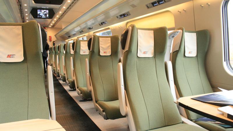 Wnętrze pociągu Pendolino