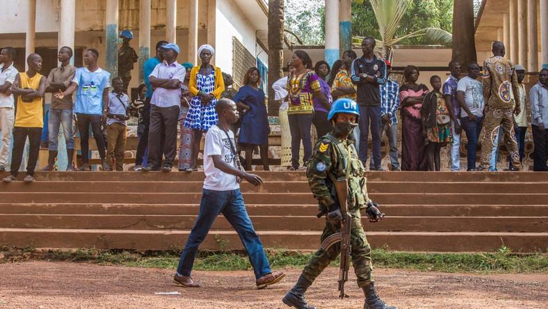Republika Środkowoafrykańska. Żołnierz UN, misja stabilizacyjna