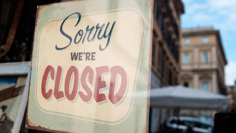 Lockdown, zamknięta restauracja