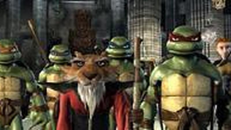 """Kadr z filmu """"Wojownicze Żółwie Ninja"""""""