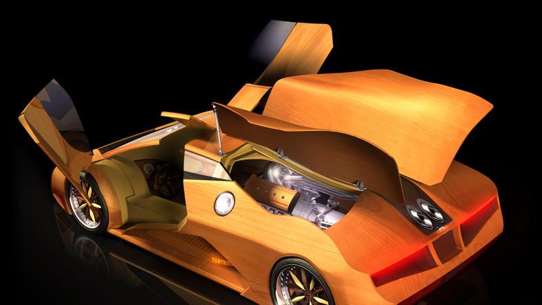 Nikt tu nie kłamie - samochód jest drewniany jak Pinokio