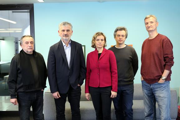 Ninov žiri: Branko Kukić, Zoran Paunović, Tamara Krstić, Marjan Čakarević, Ivan Milenković
