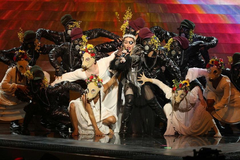 Madonna podczas występu na finale Eurowizji 2019
