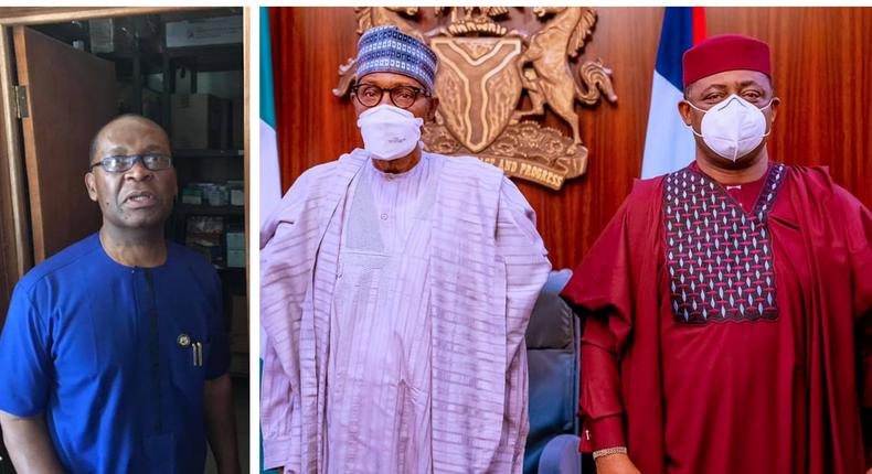 Joe Igbokwe (left) wants the APC to reward its real foot soldiers, instead of people like Femi Fani-Kayode who met with President Muhammadu Buhari when he announced his defection to the party on Thursday, September 16, 2021