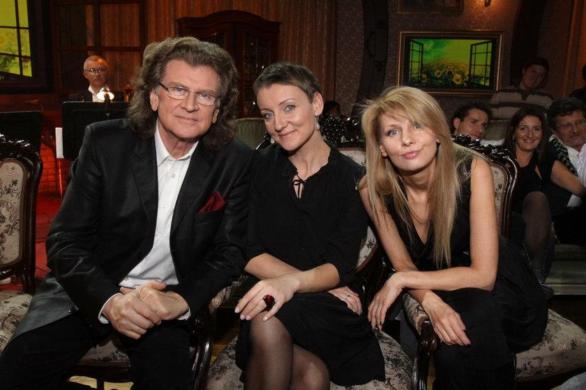 Zbigniew Wodecki z córkami